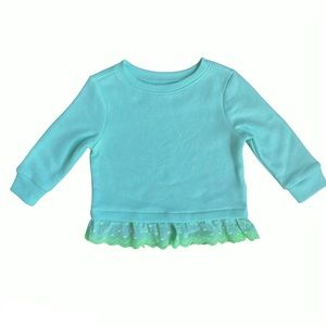 Old Navy Girls Fleece Pullover Sweater With Lace